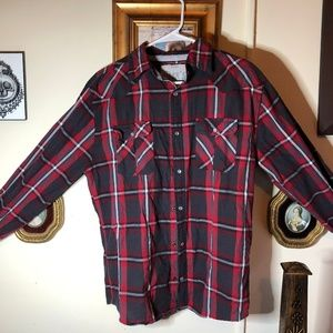 Men's Long Sleeve Button Up Flannel